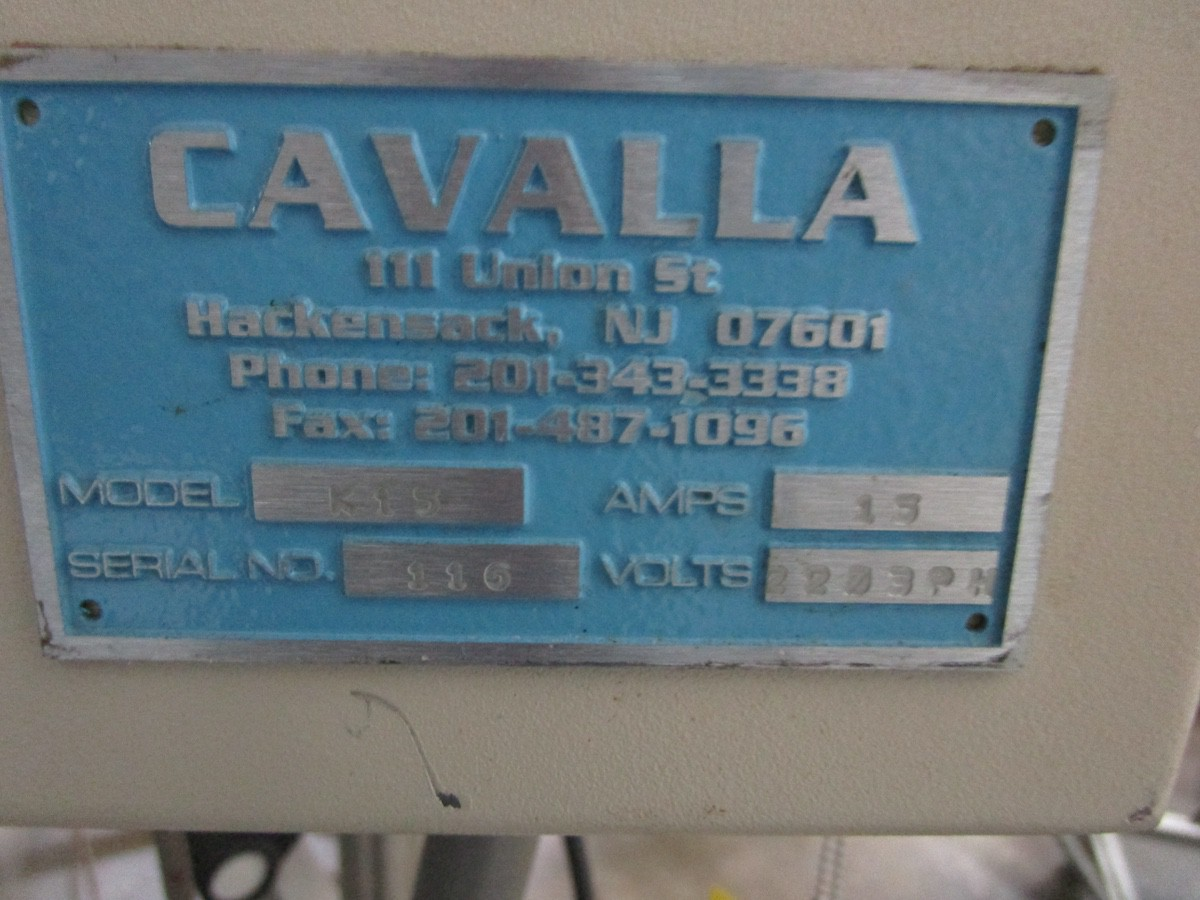 Cavalla Soy Wax Melter For Solid Perfume, K15 Control, s/n 116, Roller Conveyor | Rig Fee: $50 - Image 7 of 7