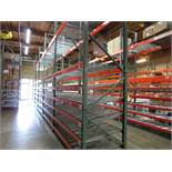 "(20) Sections of Adjustable Pallet Shelving Including (24) 16' x 44"" Uprights, (12 