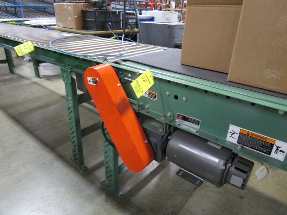 "18"" x 15' Power Conveyor with Roller Conveyor | Rig Fee: $100 - Image 3 of 6"
