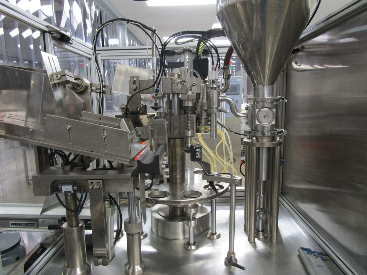 2011 TotalPacks TFS-100A Automatic Hot Air Tube Filler, s/n 5ML-250ML, Hopper & Part | Rig Fee: $650 - Image 3 of 12
