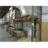 "(13) Sections of Adjustable Pallet Shelving Including (16) 12' x 44"" Uprights, (4) 