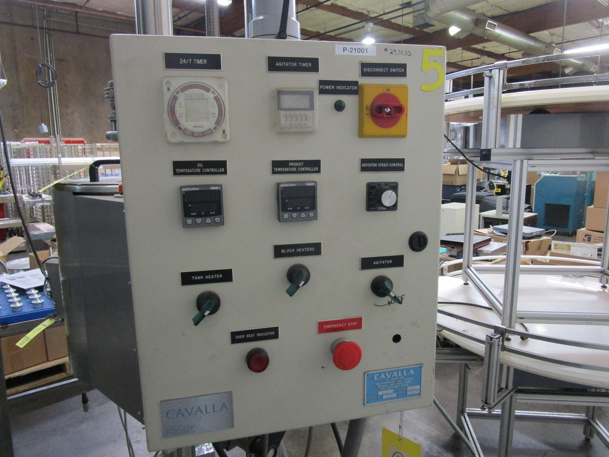 Lot 18 - Cavalla Soy Wax Melter For Solid Perfume, K15 Control, s/n 116, Roller Conveyor | Rig Fee: $50