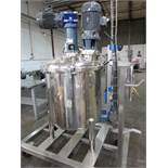 Approx. 75 Gallon Stainless Steel High Polish Twin Agitated Vessel, (2) Mixer/Agitat | Rig Fee: $300