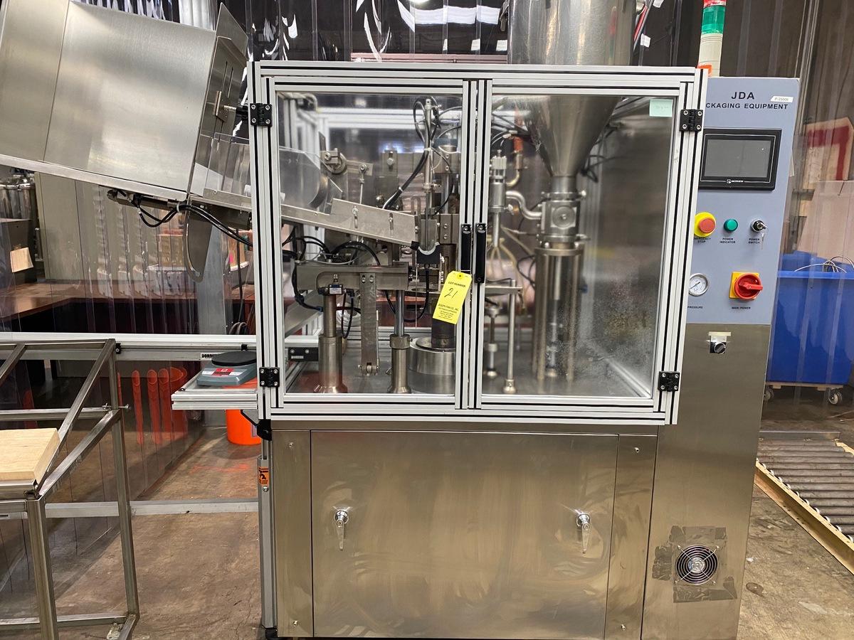 2013 JDA Packaging Equipment Super 30 Automatic Tube Filler s/n 150113, Conveyor, Hopper | Rig Fee: