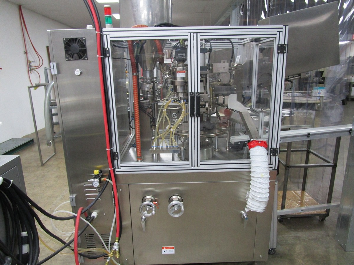 2011 TotalPacks TFS-100A Automatic Hot Air Tube Filler, s/n 5ML-250ML, Hopper & Part | Rig Fee: $650 - Image 8 of 12