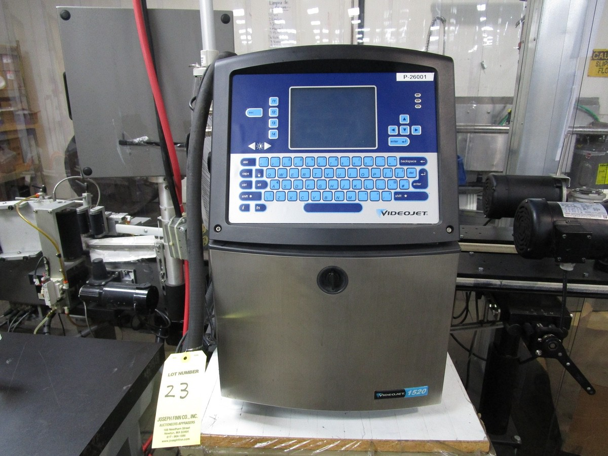 VideoJet 1520 Ink Jet Coding Machine s/n 1211814C22ZA | Rig Fee: $75