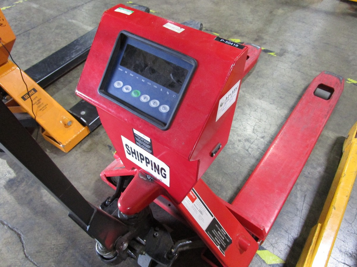 Lot 41 - Dayton 2ZE61 Pallet Jack with Scale, 4,400# | Rig Fee: $0