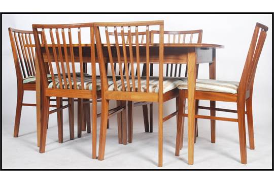 A Good Mid Century 1950 S Dining Table And Chairs Suite By Pete Hayward For Vanson The Extend