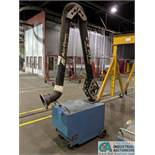 "1.5 HP AIRFLOW SYSTEMS PORTABLE DUST COLLECTOR WITH ""E-Z ARM"" ARTICULATING EXTRACTION ARM **RIGGING"