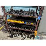 (LOT) 50 TAPER TOOLING TO INCLUDE (84) TOOLHOLDERS AND (49) COLLETS **RIGGING FEE DUE INDUSTRIAL SER