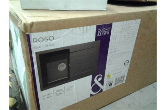 BOXED COOKE AND LEWIS ROSO 1 BOWL SINK