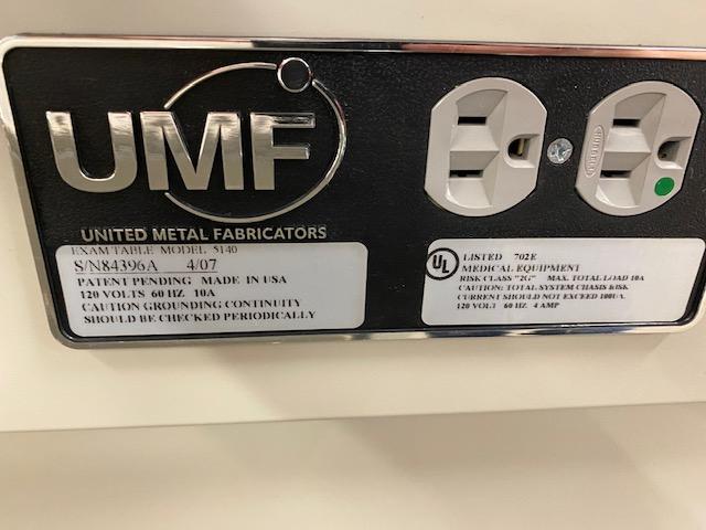 UMF EXAM TABLE MODEL 5140 - Image 3 of 3