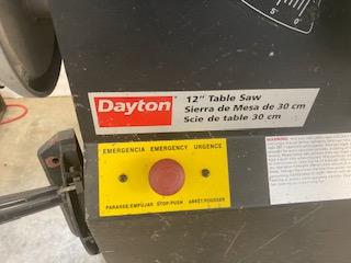 "DAYTON 12"" TABLE SAW - Image 2 of 2"