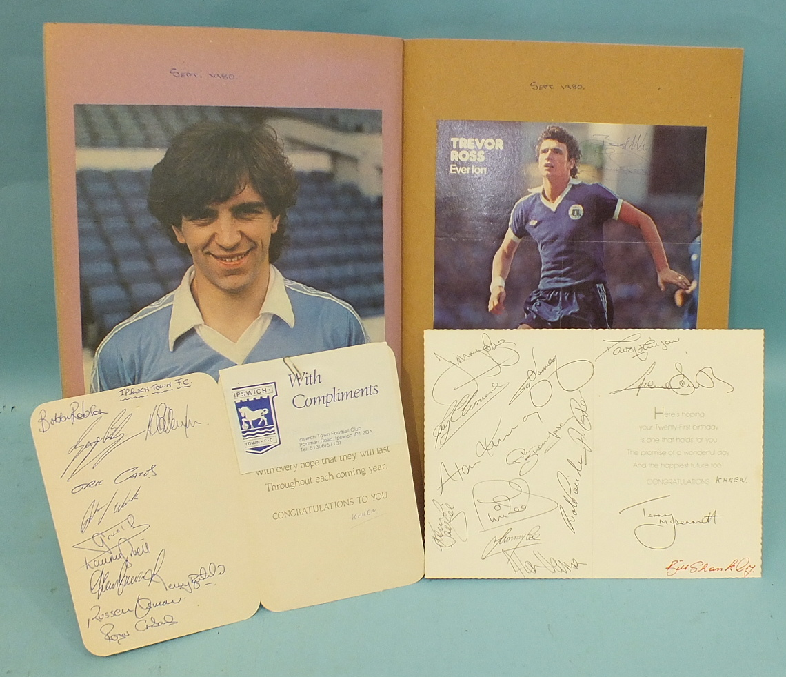Lot 513 - 'The Double' Arsenal FC Scrap Book containing signed photographs and signed letters by 'Liam Brady',