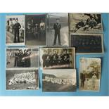 A small collection of 40 early-20th century RP portrait postcards, many of sailors in uniform.