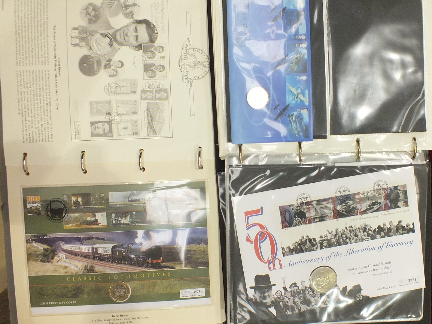 Lot 120 - Eleven Westminster Mint 'The History of World War II' coin First Day Covers and other First Day
