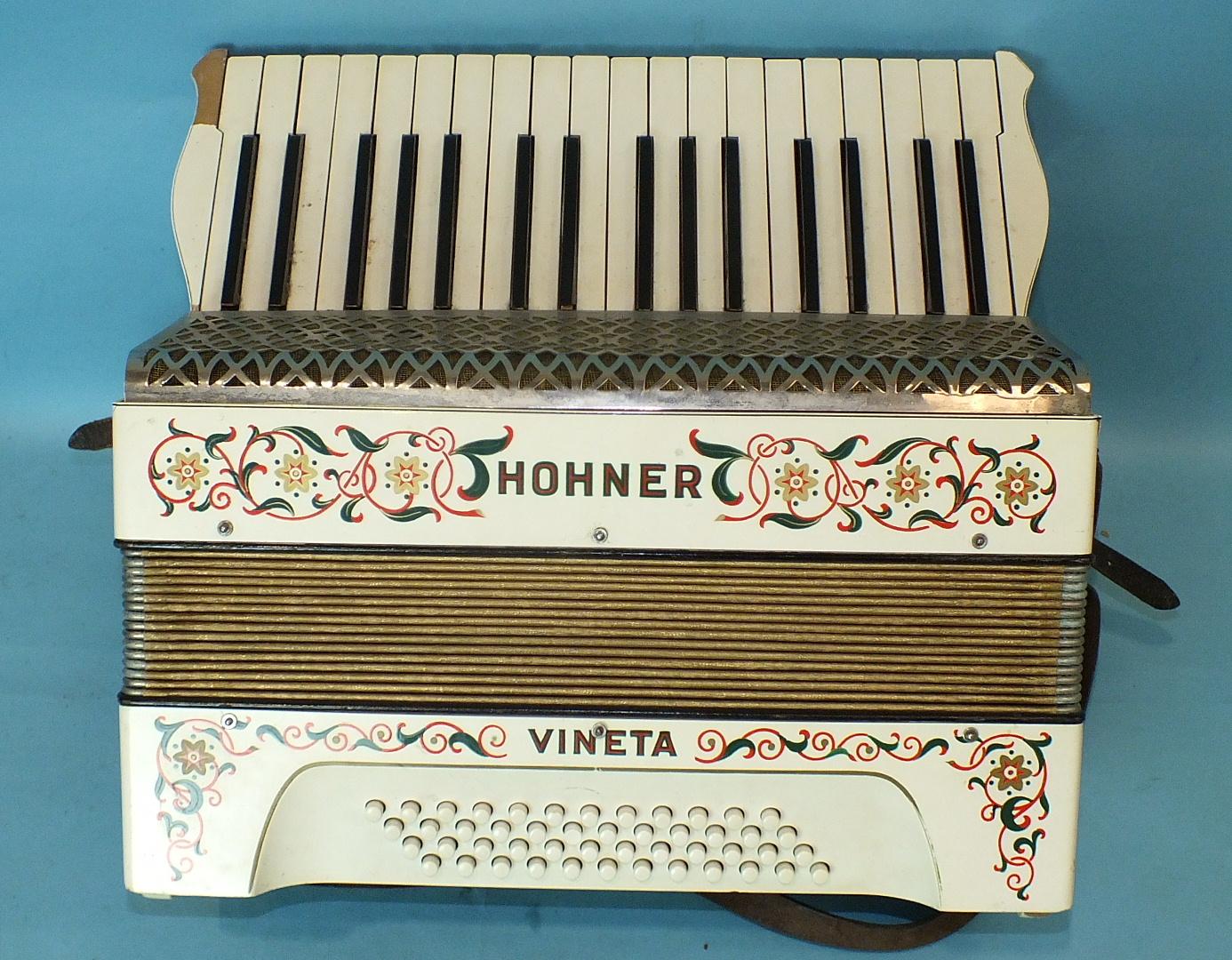 Lot 502 - A Hohner Vineta piano accordion.