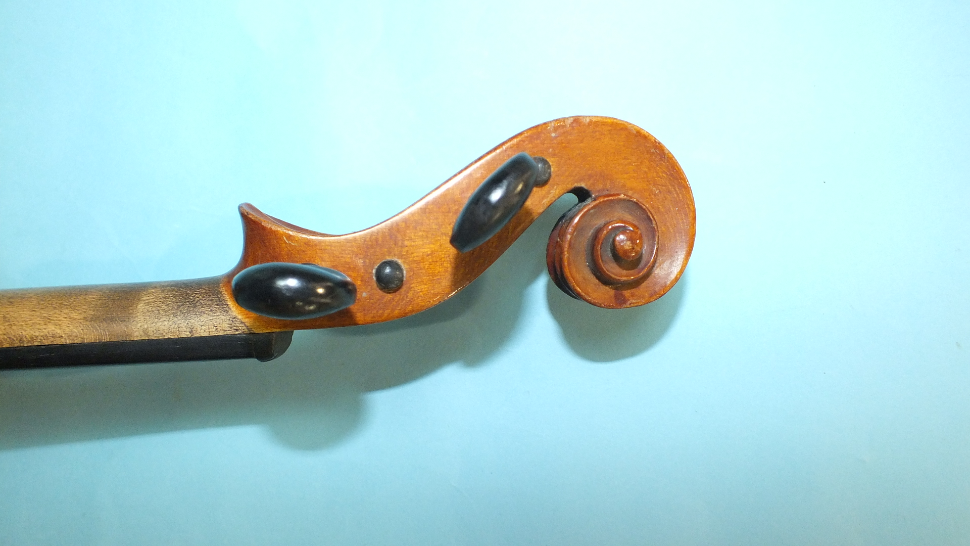 Lot 504 - A violin 'The Maidstone' by Murdoch Murdoch & Co, 35.5cm, with two-piece back, cased, with bow.