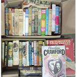 A quantity of novels with dust jackets, mainly Book Club editions, also a quantity of film annuals.