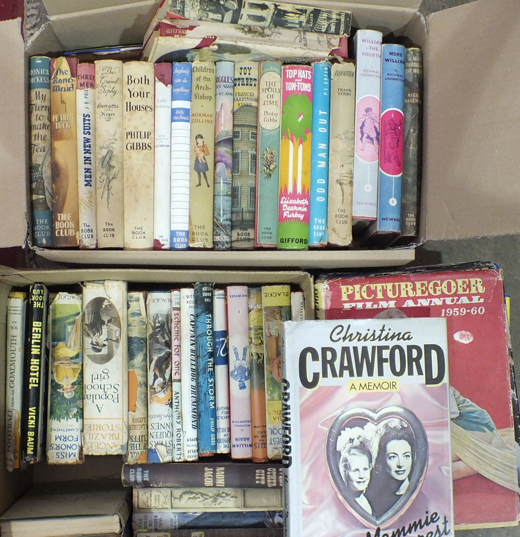Lot 29 - A quantity of novels with dust jackets, mainly Book Club editions, also a quantity of film annuals.