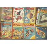 Children's Annuals to include: Lion 1955, 1957, Dandy Monster Comic 1951, the Rover Book for Boys