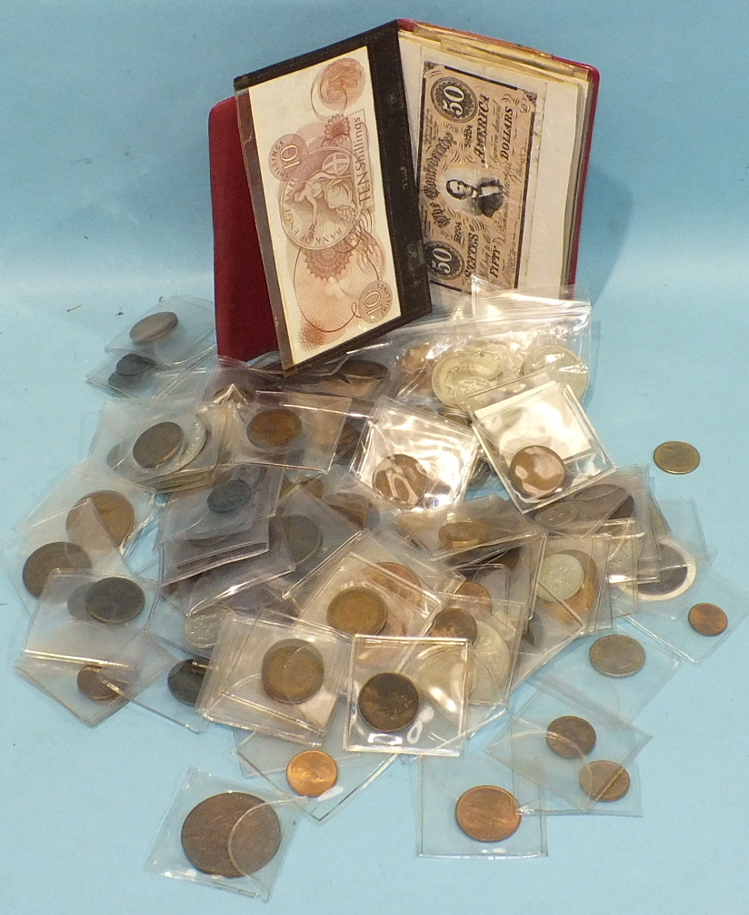 Lot 138 - A collection of British 20th century coinage, including pre-1947 silver, etc.