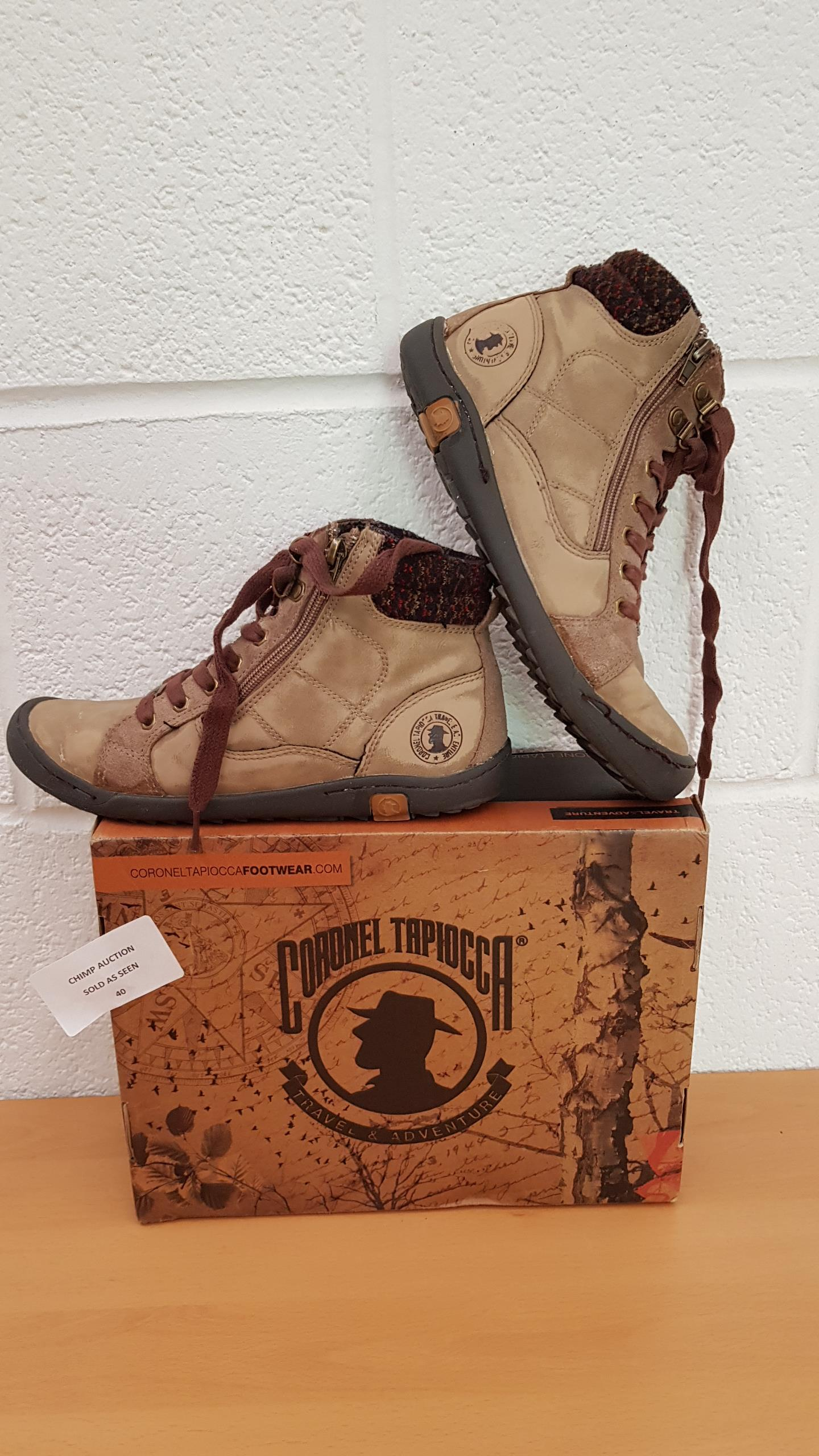 Lot 40 - Coronel Tapiocca shoes EU SIZE 38
