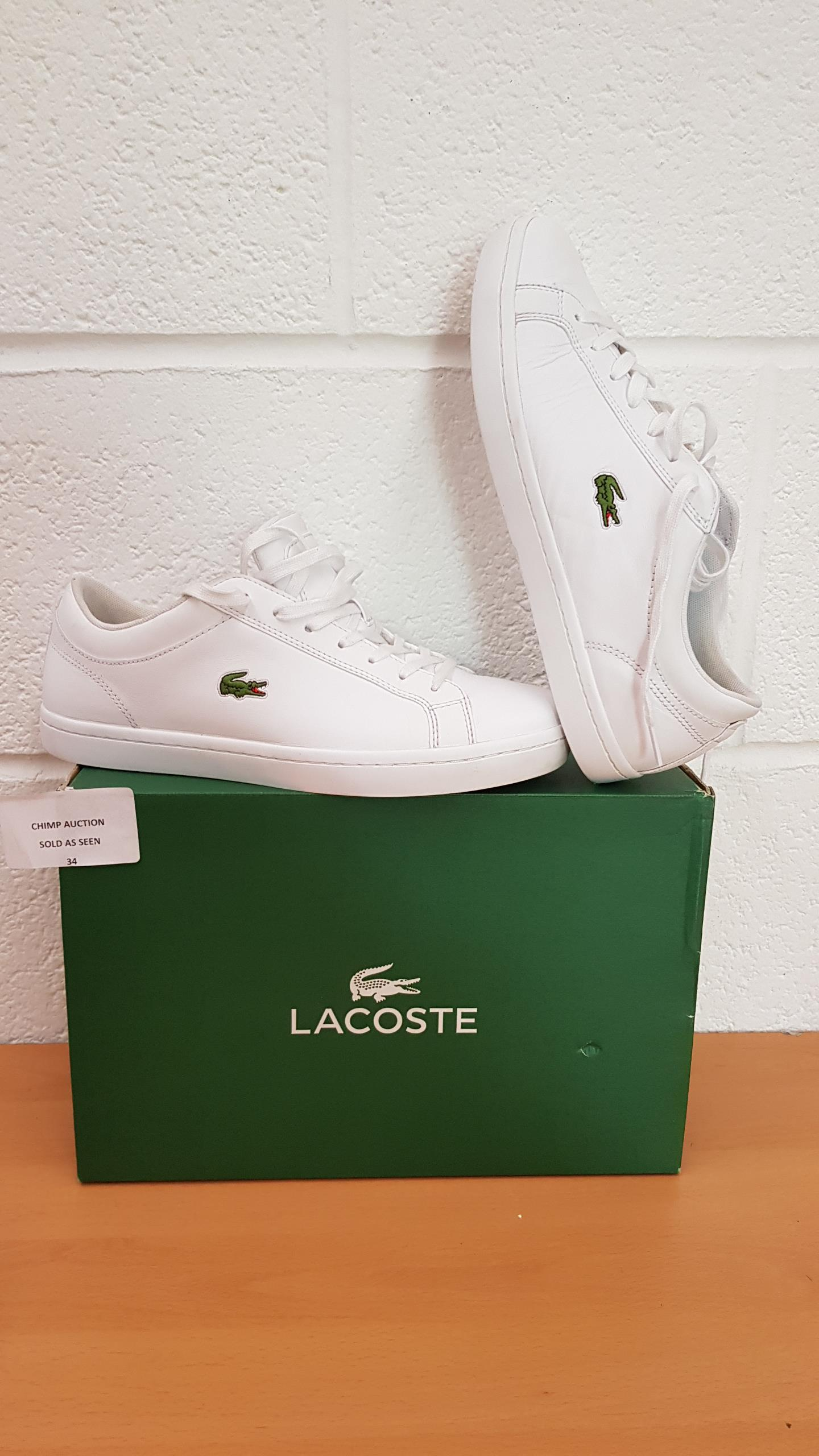 Lot 34 - Lacoste Women's Straightset Bl 1 SPW Low shoes UK SIZE 7.5 RRP £119.99