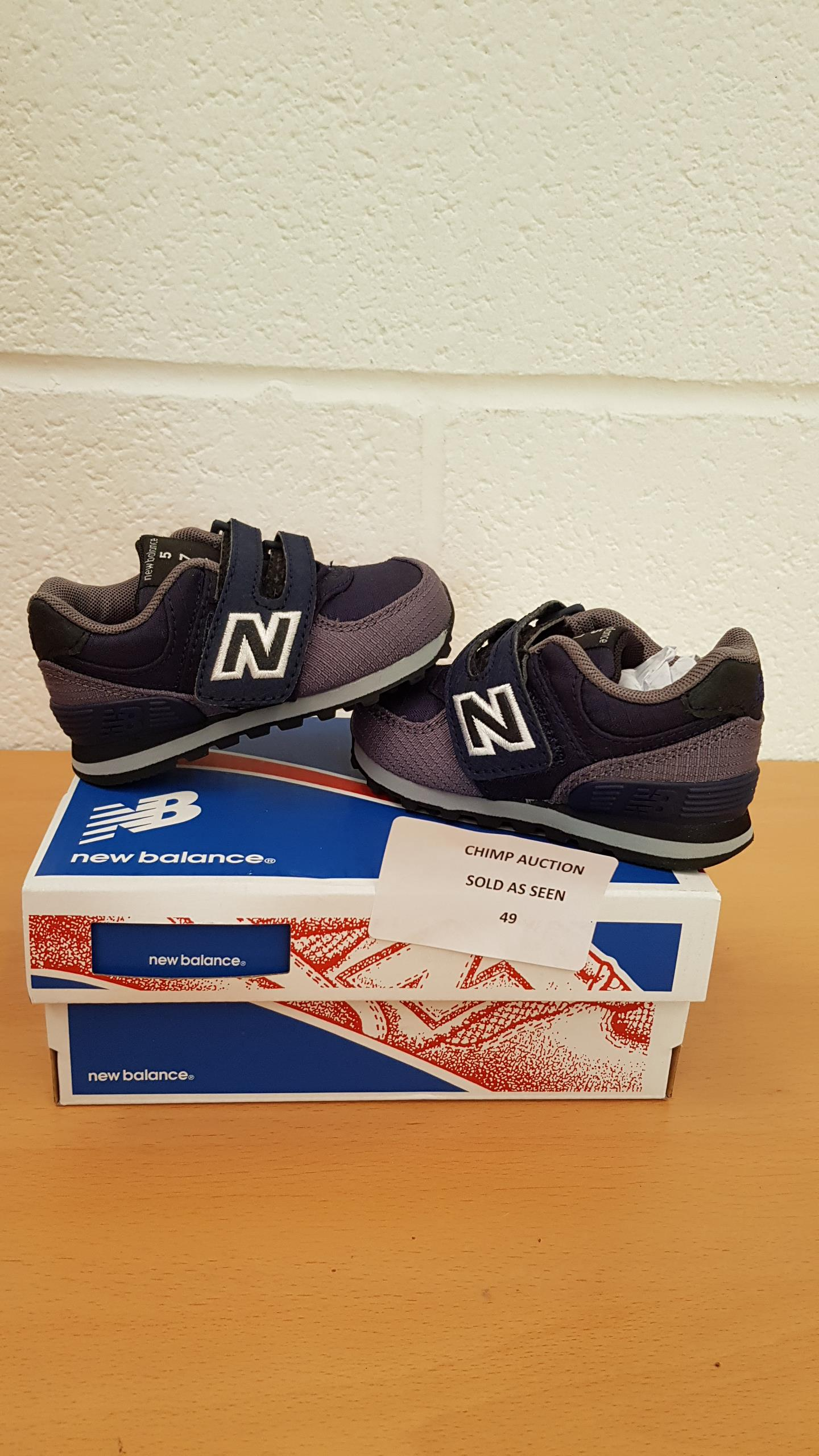 Lot 49 - NEW BALANCE - SPECIAL EDITION kids trainers uk size 3.5