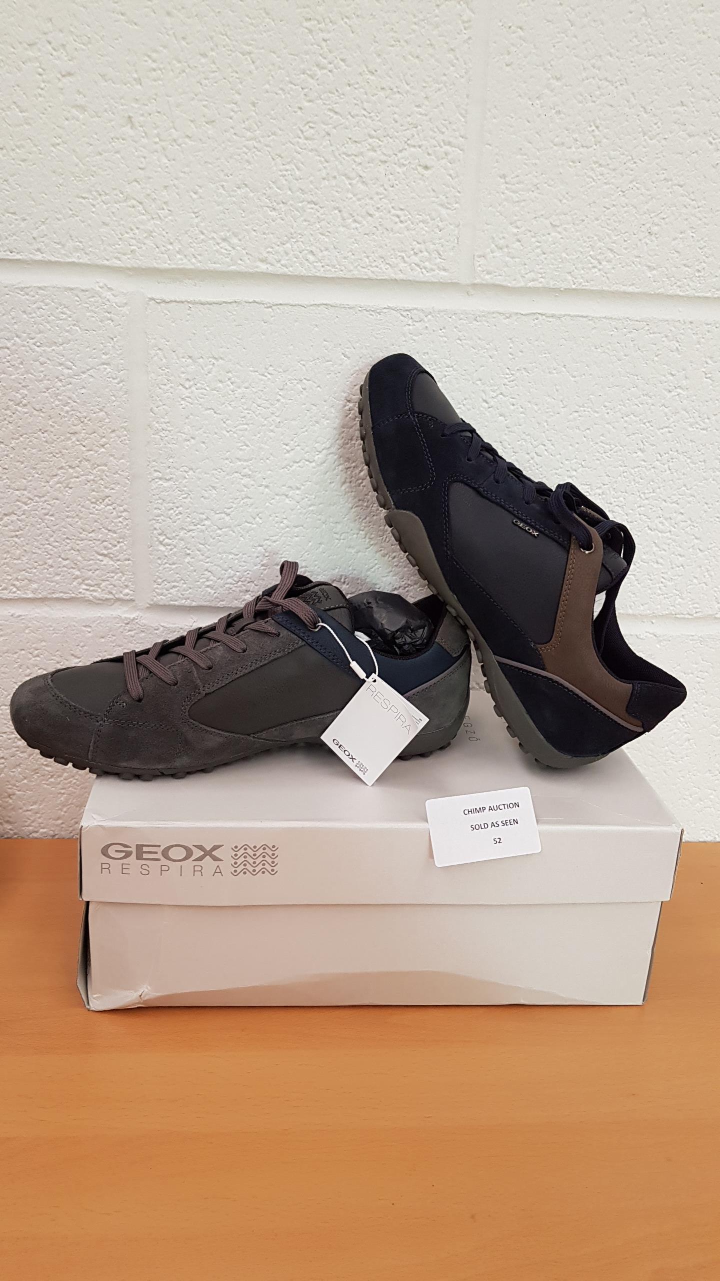 Lot 52 - Geox Respira U Snake Suede shoes UK SIZE 9