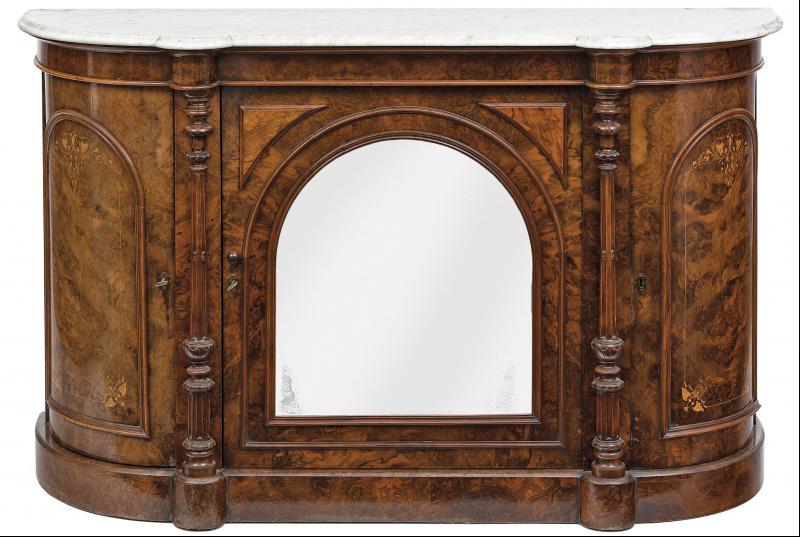 Credenza Con Llave : Credenza �poca victoriana en madera de ra�z nogal. s