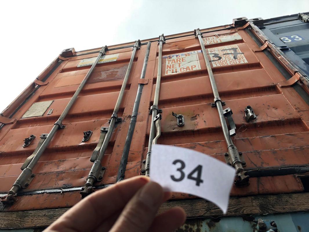 Lot 331 - N. 34 (768 FALLIMENTO) CONTAINER PESANTE ROSSO N. 37, DIMENSIONI 6,20X2,40 (BENI IN VIA EX INTERNATI