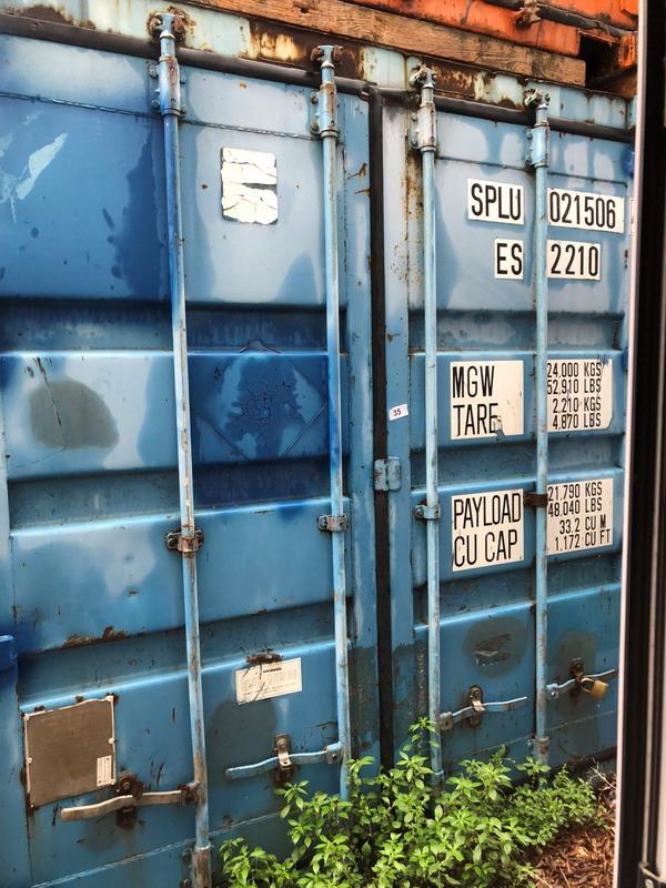Lot 332 - N. 35 (768 FALLIMENTO) CONTAINER PESANTE BLU N. 39, DIMENSIONI 6,05X2,40 (BENI IN VIA EX INTERNATI