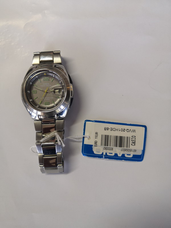 Lot 29 - N. 5 (ES. N° 1316/19 IVG N° 5.703) OROLOGIO CASIO WAVE CEPTOR WVQ201HDE8BVER (BENI IN VIA