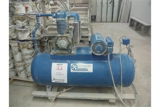 EQUIPAIR AIR COMPRESSOR, 5 HP, 230 VOLT, 1-PHASE, 60HZ, 1740 RPM