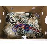 A LARGE QUANTITY OF ASSORTED COSTUME JEWELLERY, INCLUDING EARRINGS, NECKLACES AND MUCH MORE