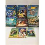 A COLLECTION OF VINTAGE DISNEY MOUSE WORKS CLASSIC STORY BOOKS FROM THE 1980'S AND 1990'S, INCLUDING