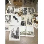 A QUANTITY OF ASSORTED PRINTS AND ETCHINGS
