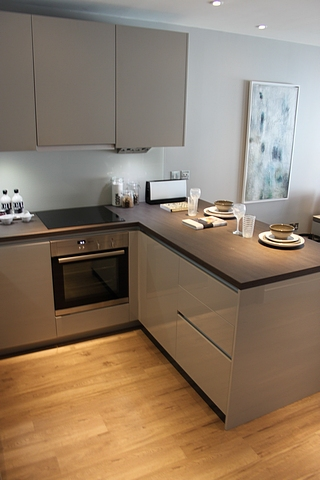 Commodore kitchens u shaped complete kitchen comprising of for Complete kitchen units
