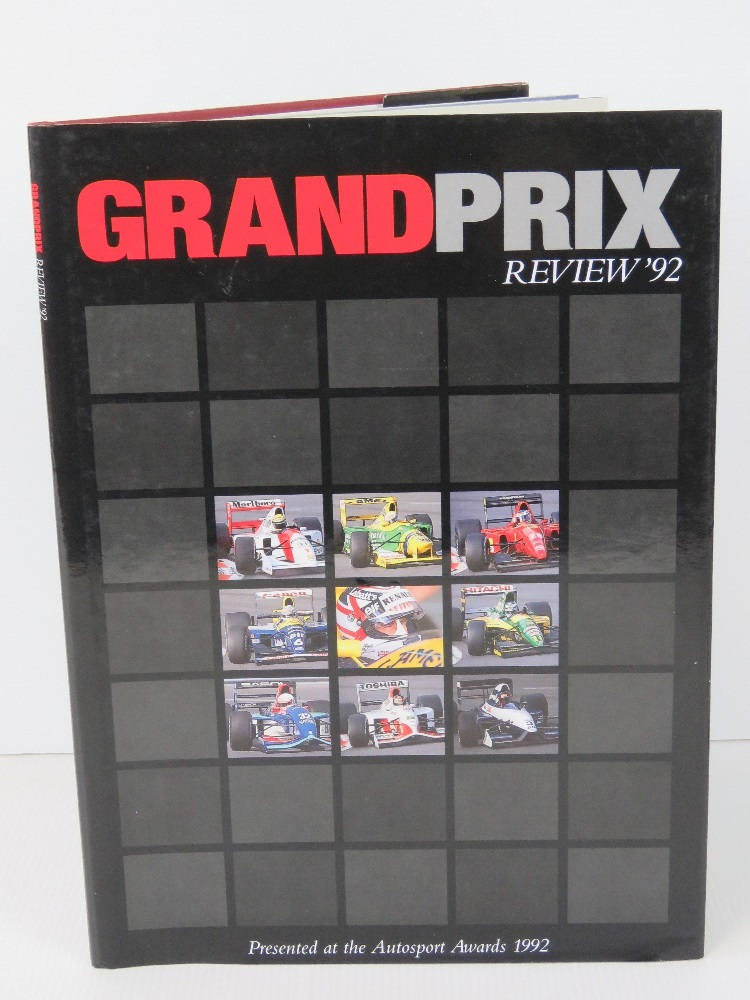 Lot 44 - Book; Grand Prix Review 1992, hardback w