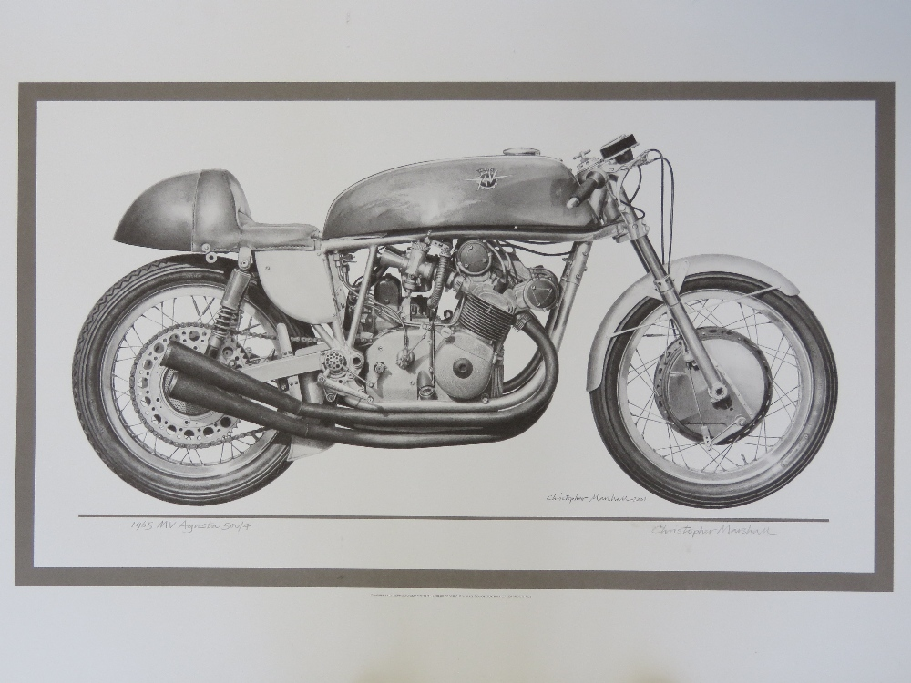 Lot 21 - Print; the 1965 MV Augusta by Christophe