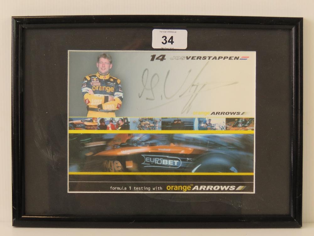 Lot 34 - A signed photograph bearing signature fo