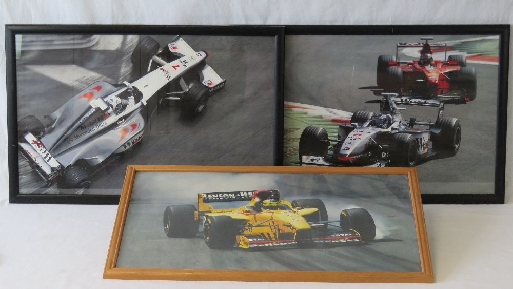 Lot 75 - Three photographic prints of Formula 1 r
