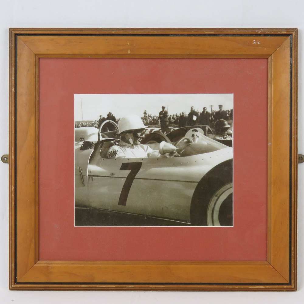 Lot 67 - A framed monochrome print of Stirling Mo