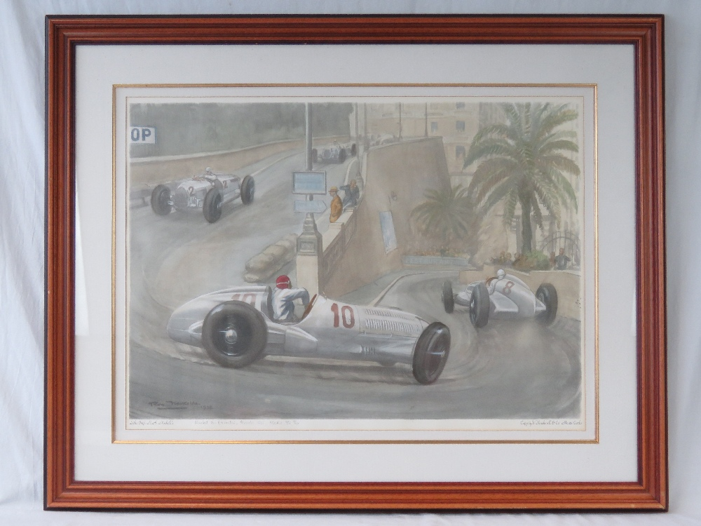 Lot 99 - A coloured lithograph from a painting by