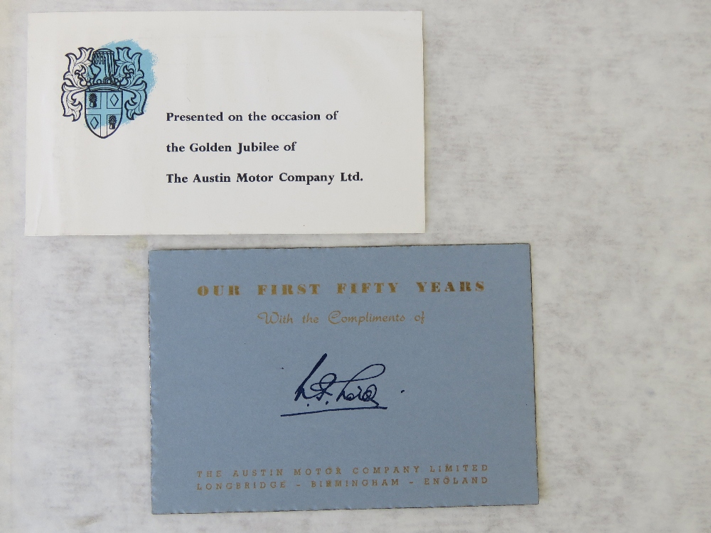 Lot 29 - Book: 'Our First 50 Years presented on t
