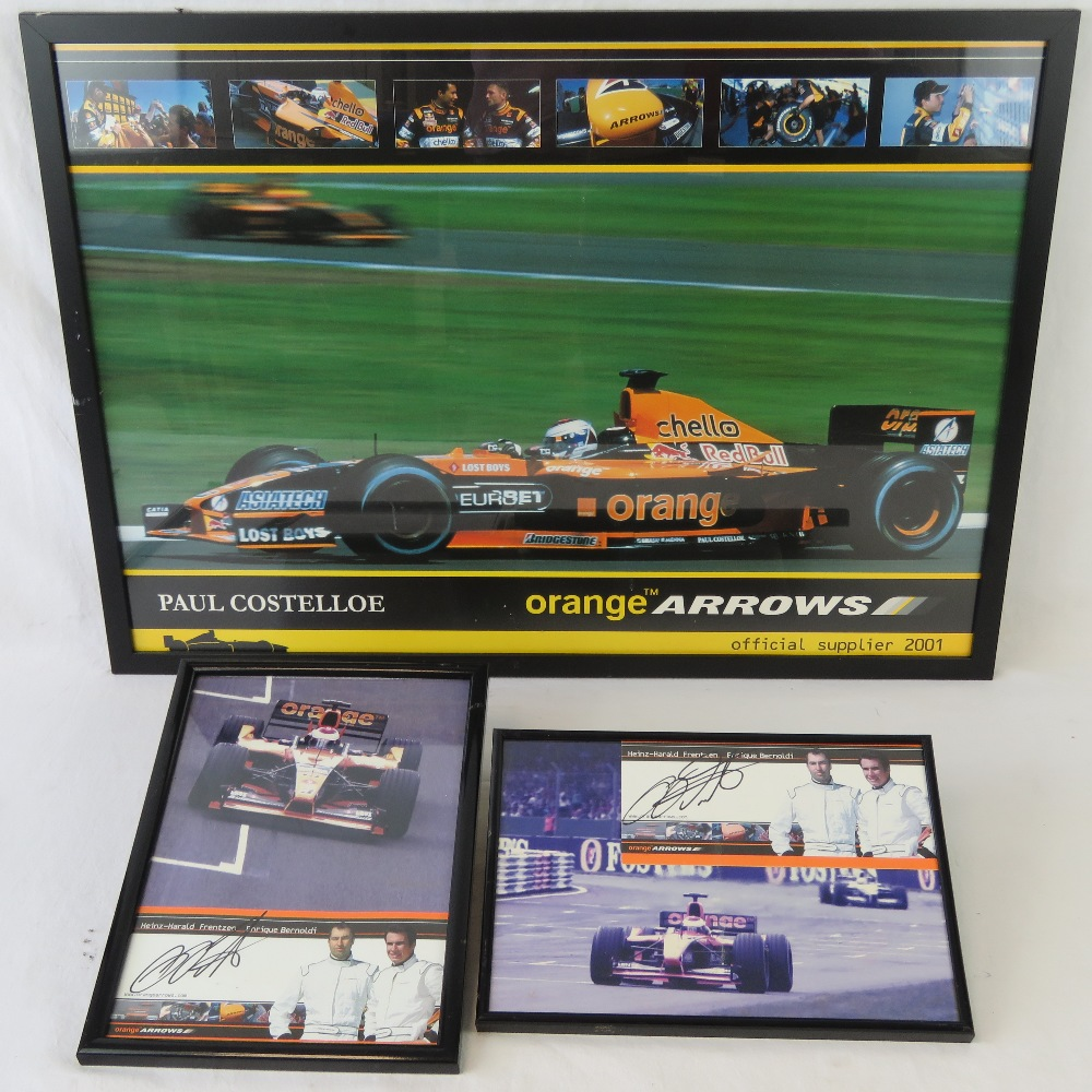 Lot 48 - Two Orange Arrows publicity cards each s
