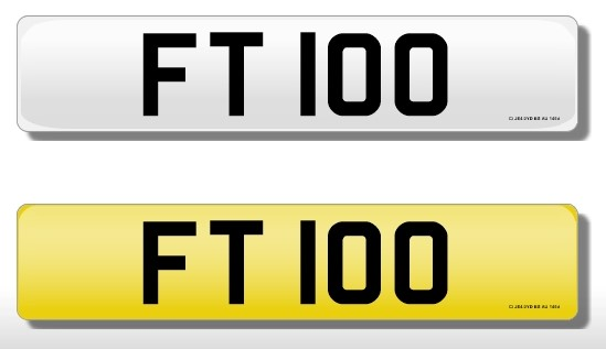 Lot 4 - Registration Plate 'FT 100' (Financial T