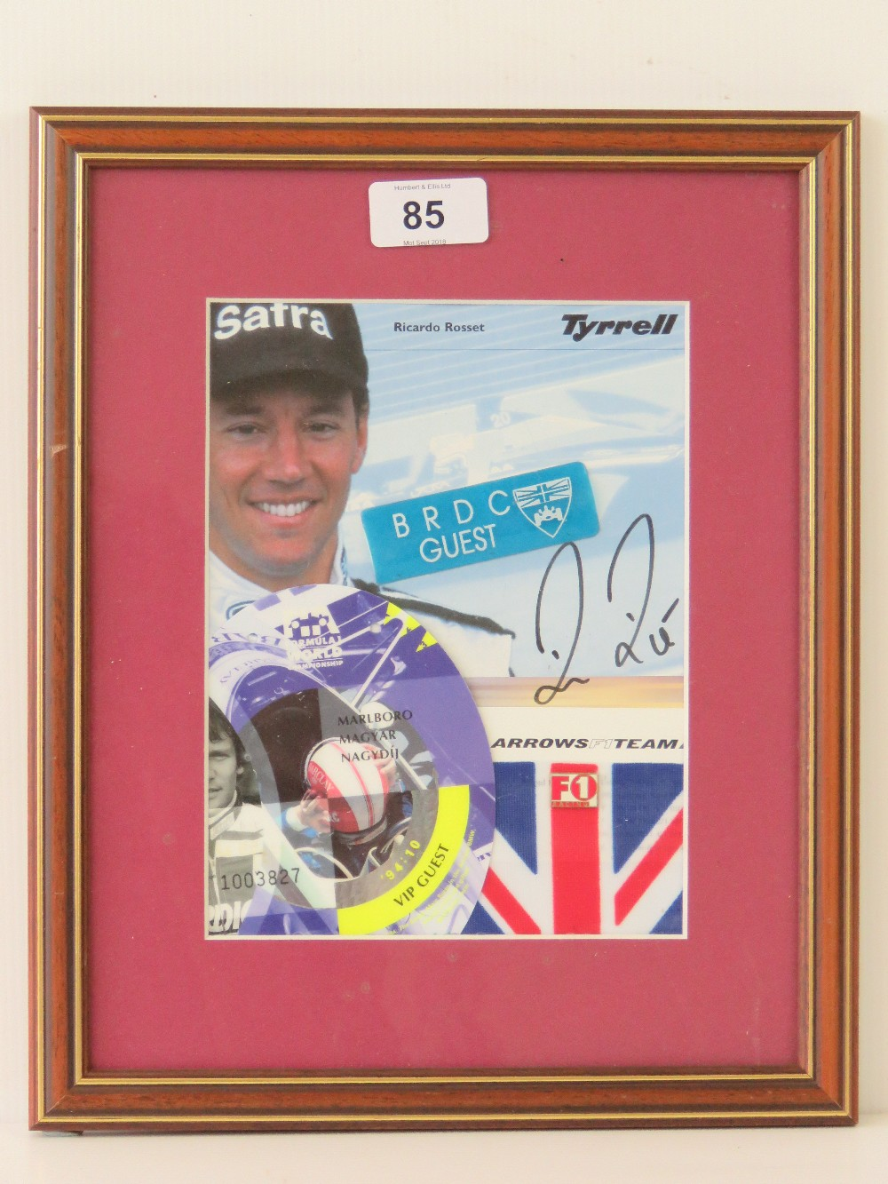 Lot 85 - A signed photographic montage bearing si