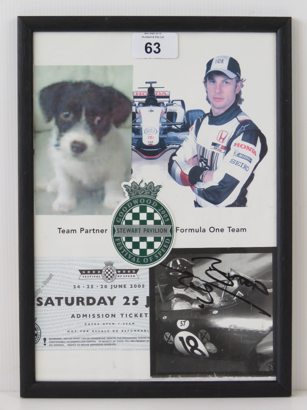 Lot 63 - An early signed Jensen Button publicity